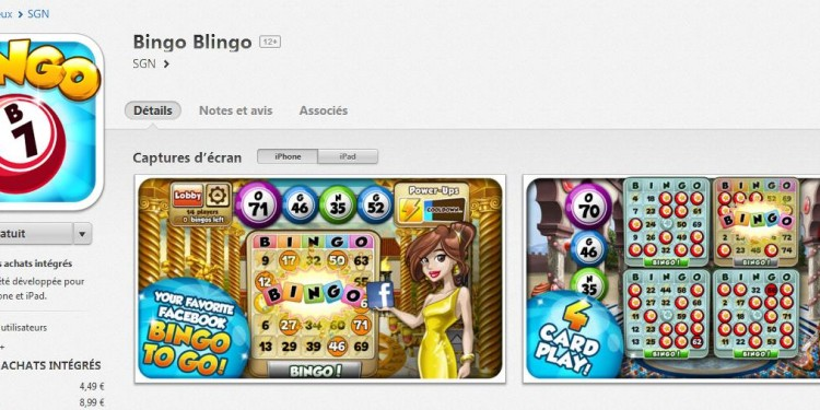 Application Bingo Blingo iPhone
