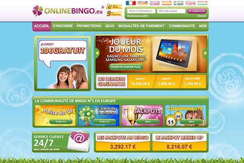 Image du site Online Bingo