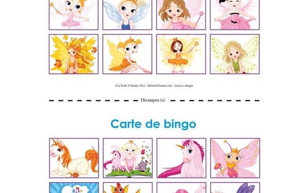 Cartes de bingo - Centre de Party Vzina