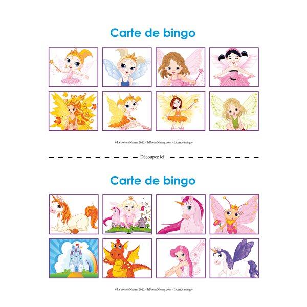 carte de bingo pour les enfants
